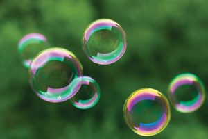 Clarity Bubbles Floating in the sky